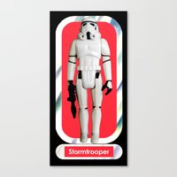 Stormtrooper : Vintage Kenner action figure Smaller Size Canvas Print