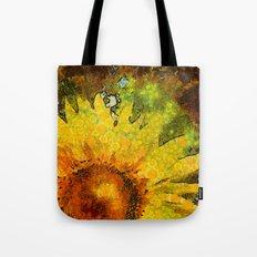 van Gogh styled sunflowers version 3 Tote Bag