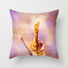 GOLDEN AUTUMN LEAF Throw Pillow