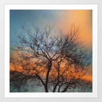 Clouds Changing Colors Art Print