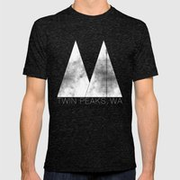 Twin Peaks, WA (White Lo… Mens Fitted Tee Tri-Black SMALL