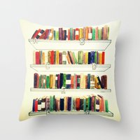 Books Throw Pillow