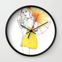 Pin-Up  Wall Clock