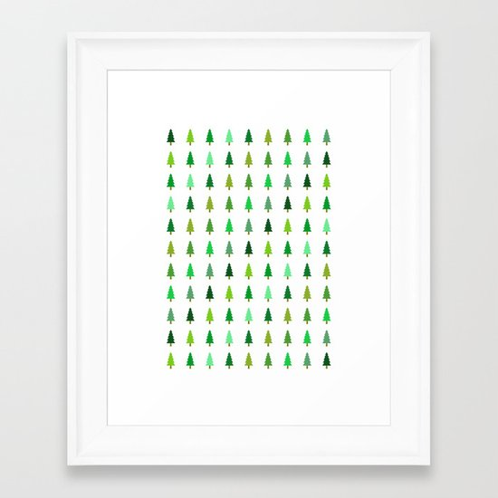 99 trees, none of them a problem Framed Art Print