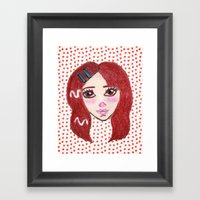 Ruby Framed Art Print
