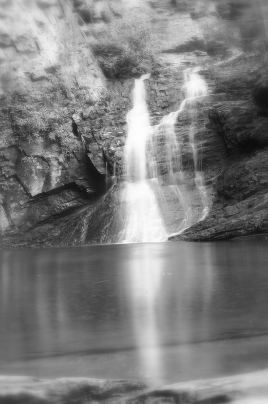 The Ole' Swimming Hole (B&W) Art Print