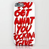 iPhone & iPod Case featuring You Get What You Give by WRDBNR