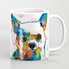 Colorful Chihuahua Art by Sharon Cummings Mug