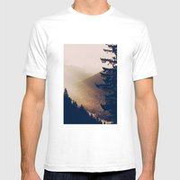 Sunrise in the Mountains  Mens Fitted Tee White SMALL