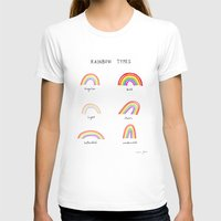 Rainbow Types Womens Fitted Tee White SMALL