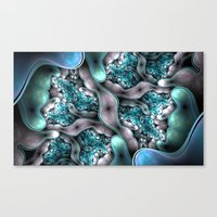 Angel pillow fights Canvas Print