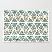 Aztec Shapes Canvas Print