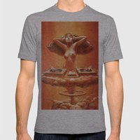 Atomic DJ Mens Fitted Tee Athletic Grey SMALL