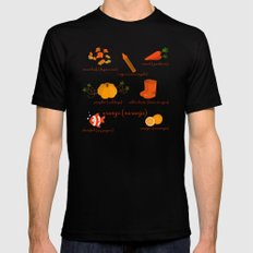 Colors: orange (Los colores: naranja) Mens Fitted Tee SMALL Black
