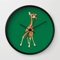 You're Having A Giraffe! Wall Clock
