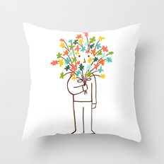 I bring flowers Throw Pillow