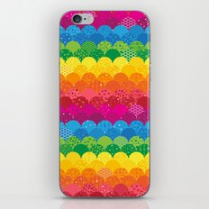 Waves of Rainbows iPhone & iPod Skin