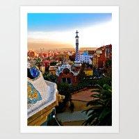 Barcelona - Gaudí's Par… Art Print