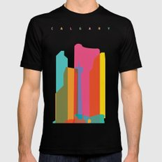 Shapes of Calgary SMALL Black Mens Fitted Tee