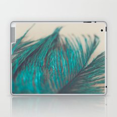 Turquoise Feather Abstract Laptop & iPad Skin