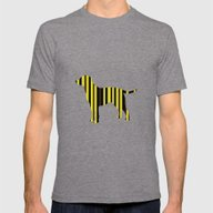 All The Lab Colors, Stri… Mens Fitted Tee Tri-Grey SMALL