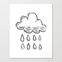 Rain cloud Canvas Print