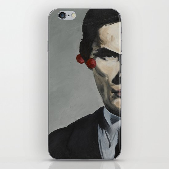 man with cherries iPhone & iPod Skin
