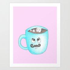 Hot Chocolate Mustache Pink Art Print
