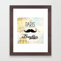 Paris Brooklyn Framed Art Print