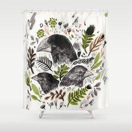 Shower Curtain - DARWIN FINCHES - Sandra Dieckmann