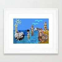 Aphrodites throughout times Framed Art Print