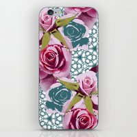 Modern Baroque Rose iPhone & iPod Skin