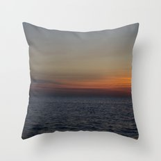 Sunrise over Lake Michigan Throw Pillow