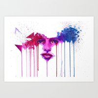 Colors of the night Art Print