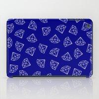 Navy Blue Diamond Pattern iPad Case