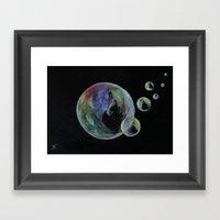 CRAYON LOVE  - Soap Bulbs Framed Art Print