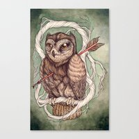 Wisdom Wounded By Folly Canvas Print