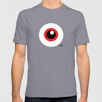 EYE SEE Mens Fitted Tee Slate SMALL