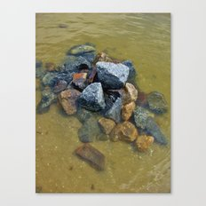 Stones in the Water, Beach Canvas Print