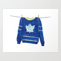 The Hockey Sweater Art Print