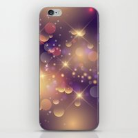 Festive Sparkles in Purple iPhone & iPod Skin