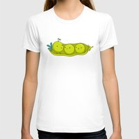 Peacock Womens Fitted Tee White SMALL