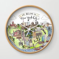 New York City Love Wall Clock