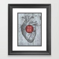 In My Heart Framed Art Print