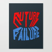 future failure hand lettering Canvas Print