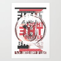 FIGHT THE BATTLE Art Print
