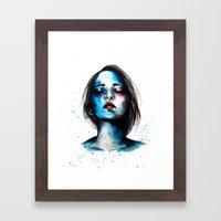 Sail // Fashion Illustra… Framed Art Print