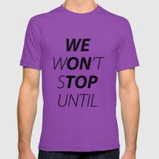 We Won't Stop Mens Fitted Tee Ultraviolet SMALL