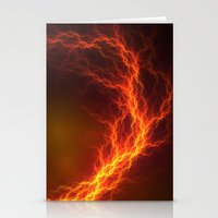 Fire and Lightning Stationery Cards