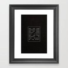 II. Find Happiness Framed Art Print